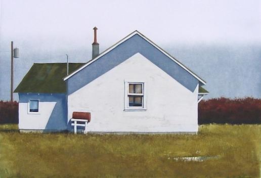 Boundary House - Original Etching 10 x 14
