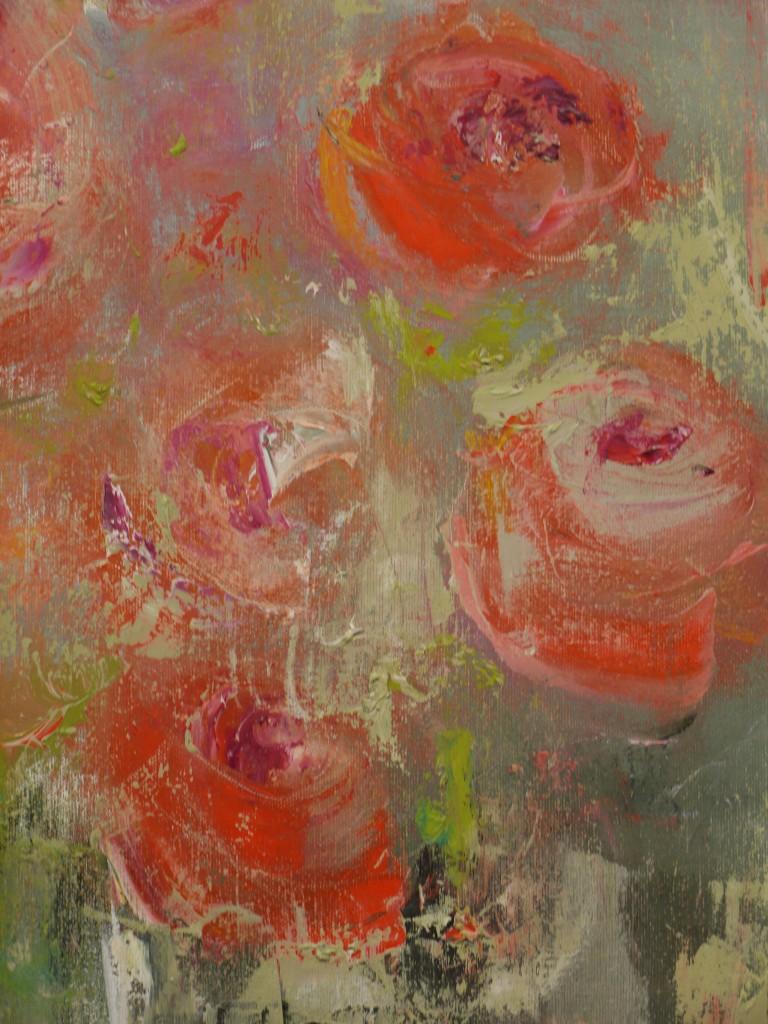 Roses - Original Oil 12 x 21