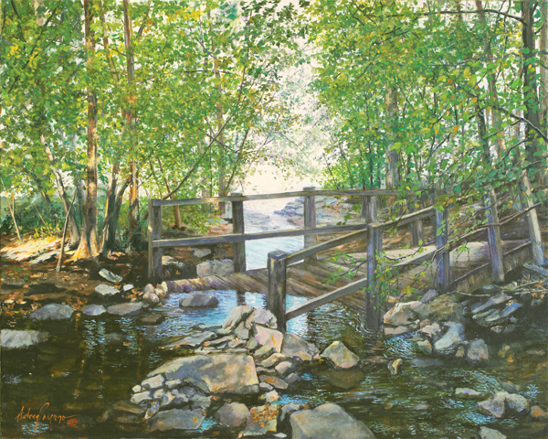 Wooden Bridge - Original Oil  20 x 24