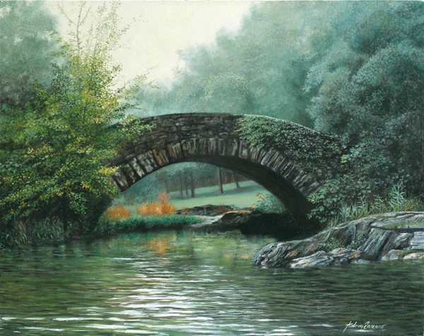 Footbridge - Original Oil  20 x 24