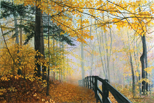 Fall Path - Original Oil 24 x 36