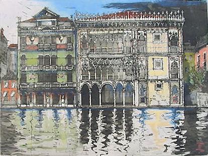 Ca'Doro, Venice - Original Etching 16.5 x 22