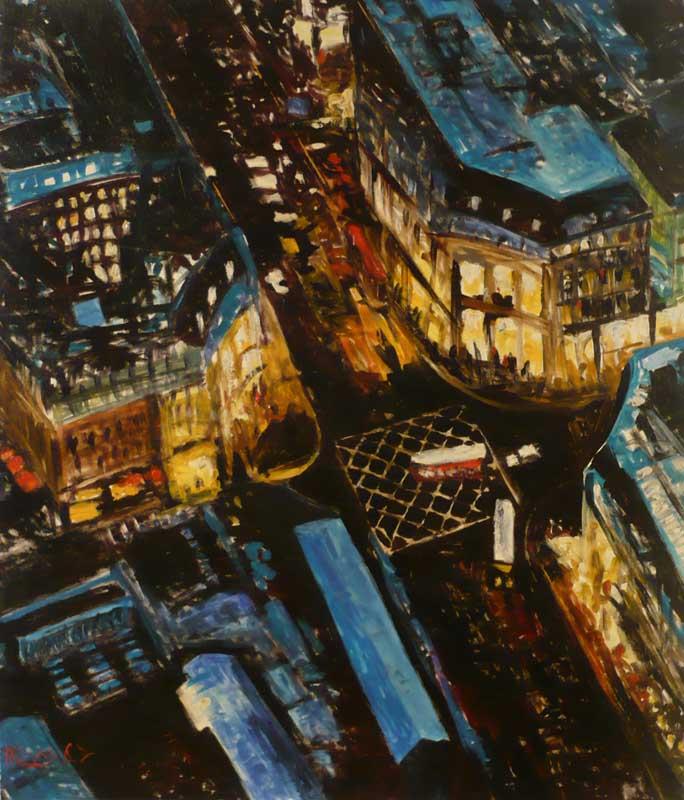 London - Original Oil 30x36