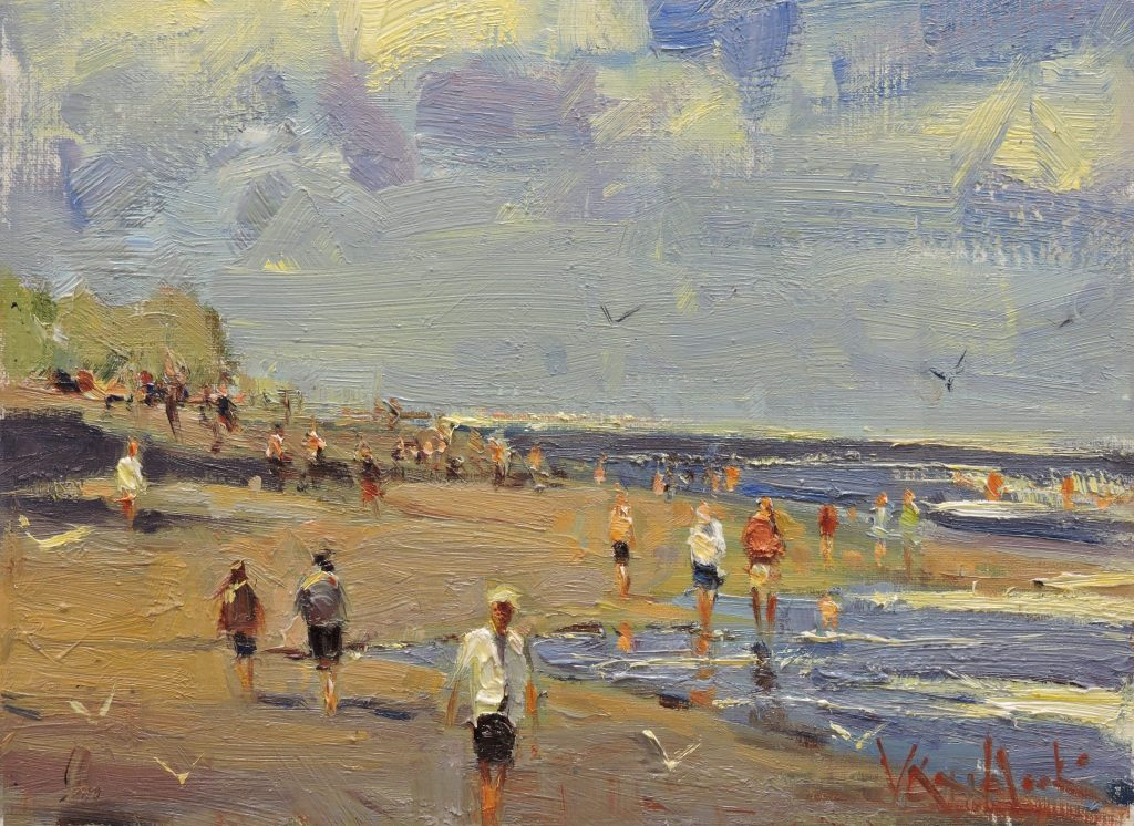 Beach Walk - Original Oil 9 x 12