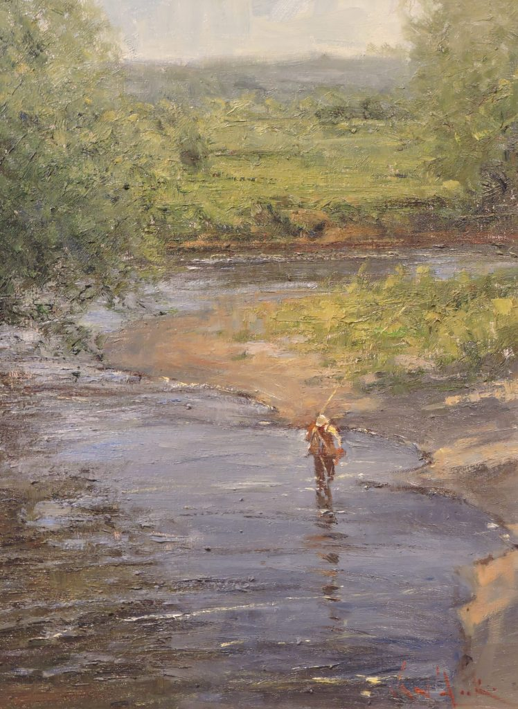 Fly Fishing on the Battenkill - Original Oil 20 x 24